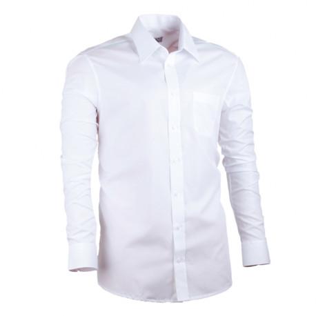 Bílá pánská košile rovná společenská 100 % bavlma non iron Assante 30003
