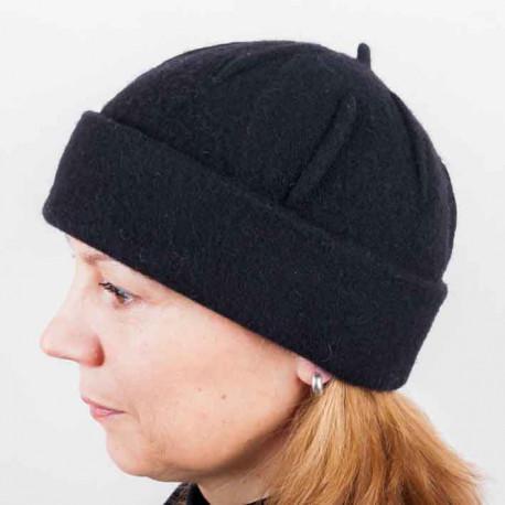 Černá dámská elegantní čepice Tonak 87317