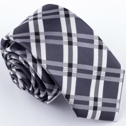 Slim šedá kravata Greg 99042