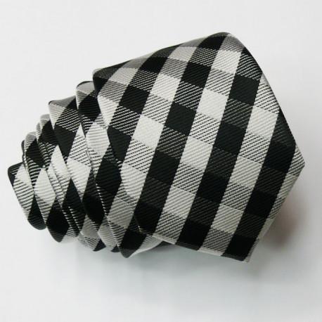 Šedá slim fit kravata Greg 99046