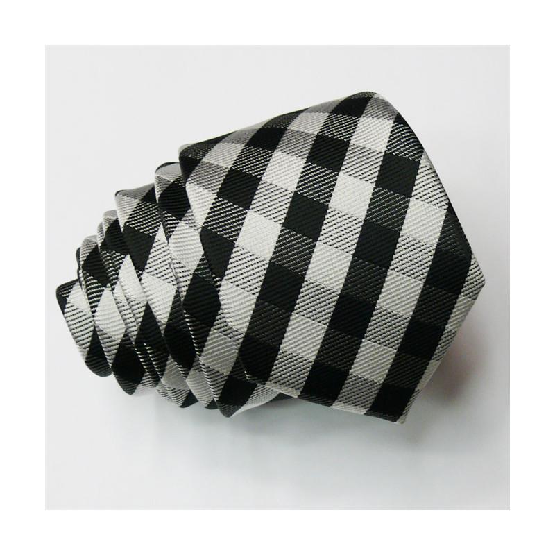 27738140443 Šedá slim fit kravata Greg 99046