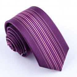 Fialová úzká kravata Greg 99612