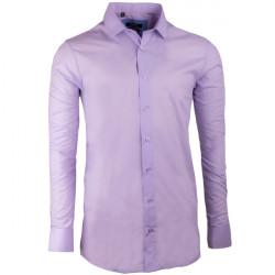 Fialová pánská košile s dlouhým rukávem rovná Native 30315