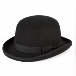Černá buřinka pánský klobouk 100 % vlna Mes 85015