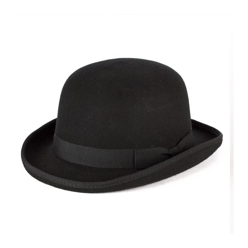 Černá buřinka pánský klobouk 100 % vlna Mes 85015 a4f4dc404c