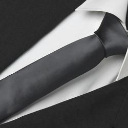 Černá slim fit kravata Greg 99128