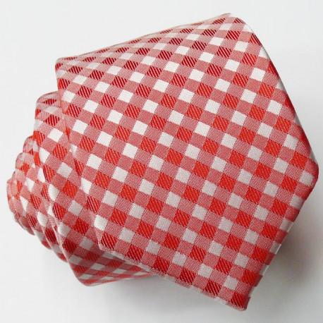 Úzká červená kravata klasická společenská Greg 99305