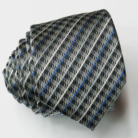 Modrošedá úzká kravata Greg 99431