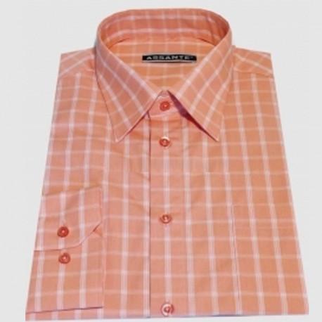 ac2823f8bed Prodloužená pánská košile oranžová Assante 20612