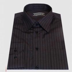 Prodloužená pánská košile černo fialová Assante 20613 35a117c758