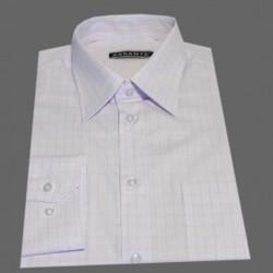 Prodloužená pánská košile bílo fialové káro Assante 20614