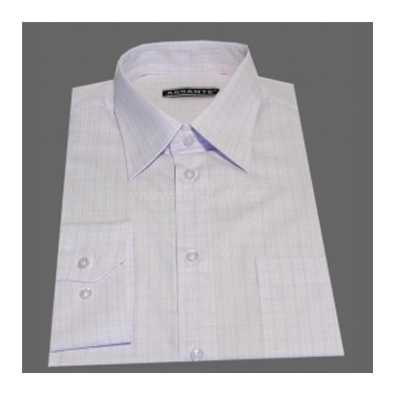 c454e9cd1c6 Prodloužená pánská košile bílo fialové káro Assante 20614
