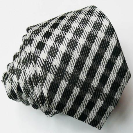 Šedá slim fit kravata šedá Greg 99058