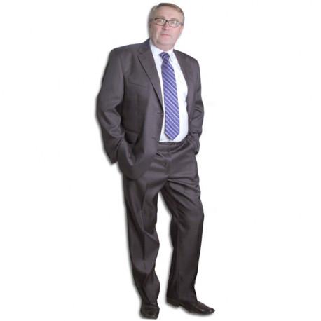 d24bff9cd3b Šedý pánský oblek společenský na výšku 176 - 182 cm Galant 160621