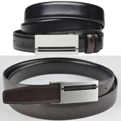 Černohnědý pásek do kalhot Assante 90812