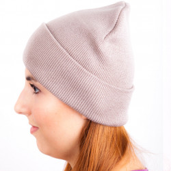 Hnědá úpletová čepice zimní Assante 88059