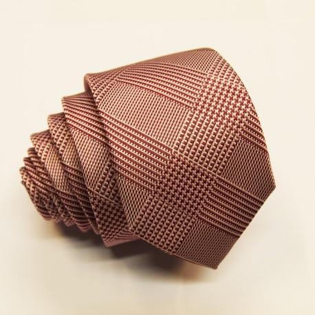 Růžová úzká kravata Greg 99600