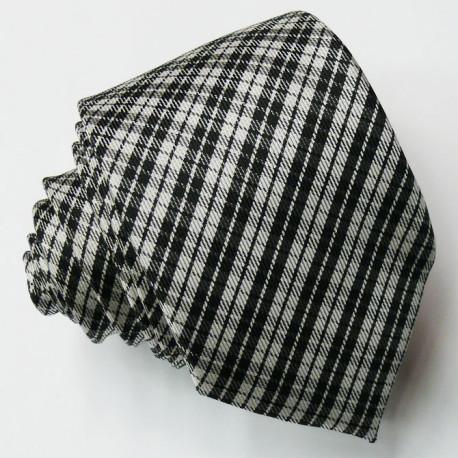 Slim šedá kravata Greg 99066