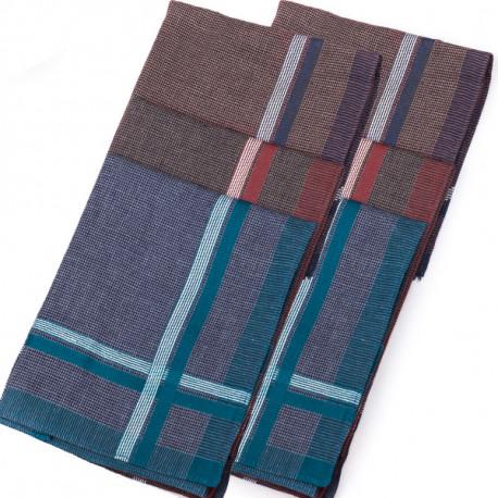 Pánské kapesníky hnědé modré bordó 40x40cm balení 6 ks Etex 90608