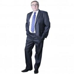 Šedý pánský oblek společenský na výšku 176 - 182 cm Galant 160630