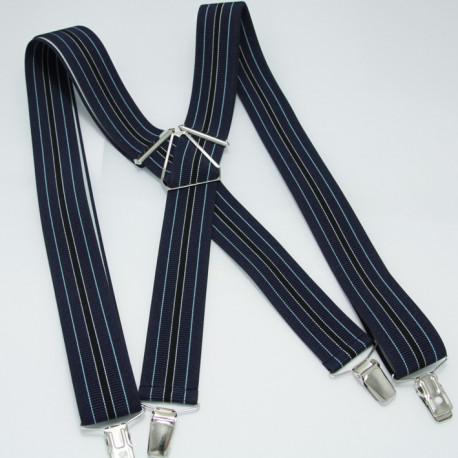 Modré pánské kšandy Assante 90103