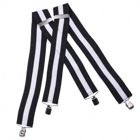 Černo bílé kšandy super široké Assante 90116