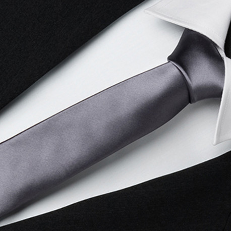 Šedá slim fit kravata Greg 99117