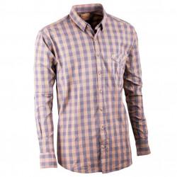Šedožlutá pánská košile dlouhý rukáv 100 % bavlna Tonelli 110901