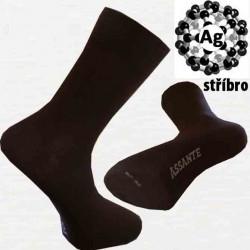 Hnědé antibakteriální pánské ponožky Assante 71110