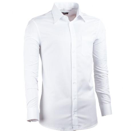 9c5965cec5d Prodloužená pánská košile slim fit bílá Assante 20017