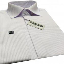 954d245c3b3 Prodloužená pánská košile bílá na manžetový knofliček Assante 20617