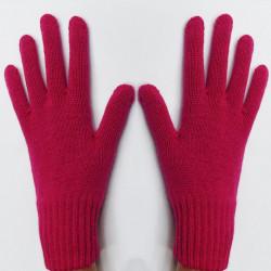 Fialové pletené rukavice Assante 89749