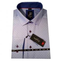 Modrá pánská košile s krátkým rukávem rovný střih Brighton 109954