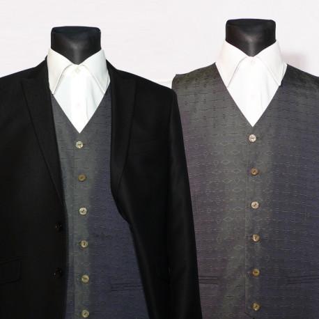 Zelená pánská vesta společenská Assante 90665 a59eae511f