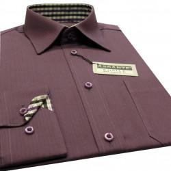 Prodloužená pánská košile fialová Assante 20301