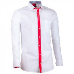 Nadměrná prodloužená pánská košile rovná bílá Assante 31090
