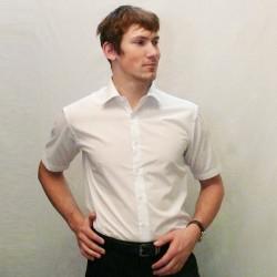 Bílá pánská košile s krátkým rukávem rovná Friends and Rebels 40001