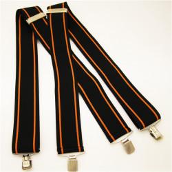 Černo oranžové šle super široké Assante 90129