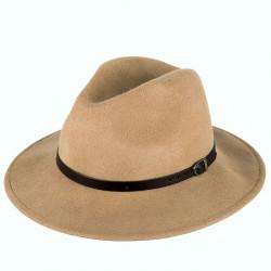 Pánský klobouk světle hnědý Felt 161007
