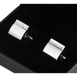 Manžetové knoflíky z bílého kovu Assante 90517