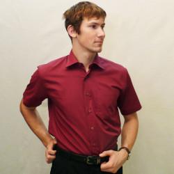 Červená pánská košile s krátkým rukávem rovná Friends and Rebels 40303