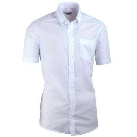 Bílá pánská košile s krátkým rukávem slim fit Aramgad 40032
