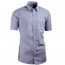 Šedá košile s knoflíčky v límečku vypasovaná Aramgad 40137