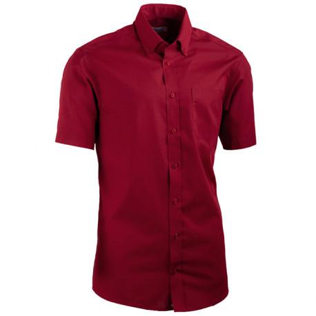 Červená pánská košile slim fit s krátkým rukávem Aramgad 40334