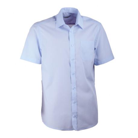 Modrá pánská košile rovná s krátkým rukávem Aramgad 40433