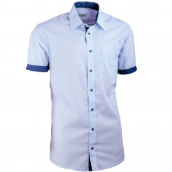 Košile modrá slim fit kombinovaná Aramgad 40438
