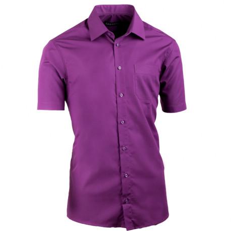 Fialová pánská košile vypasovaná Assante 40338
