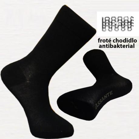 Černé pánské ponožky antibakteriální se stříbrem Assante 71201