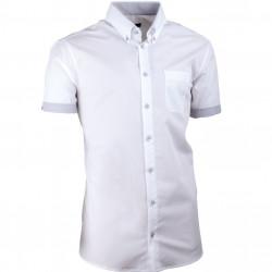 Bílá pánská košile slim fit 100 % bavlna non iron Assante 40008