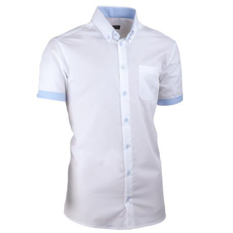 Bílá pánská košile slim fit 100 % bavlna non iron Assante 40009 70ac1b4e5b